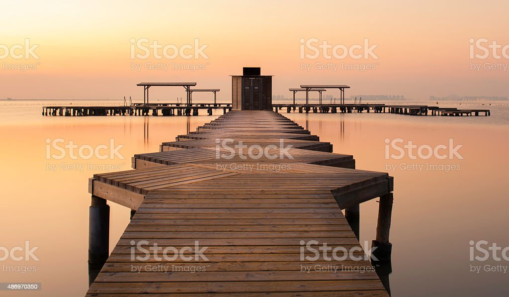 Zig Zag Pier Mar Menor stock photo