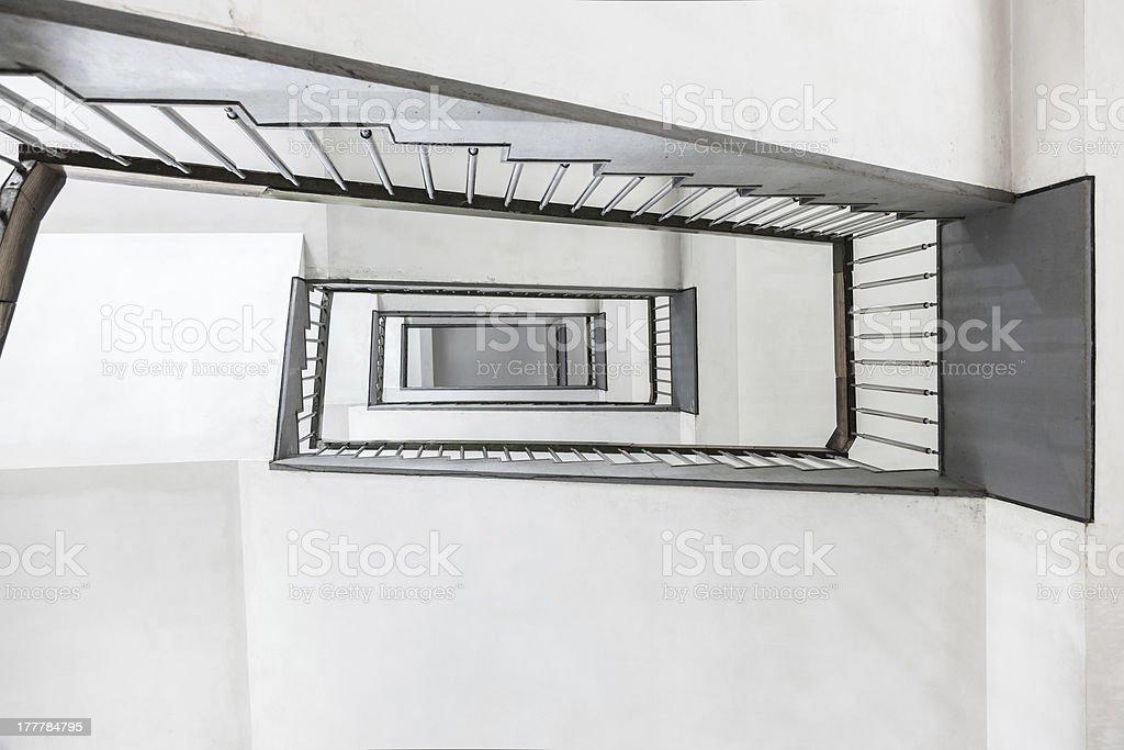 zig zag stairway royalty-free stock photo