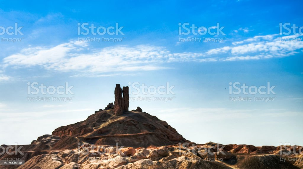 Ziggurat Birs Nimrud, the mountain of Borsippa, Iraq stock photo