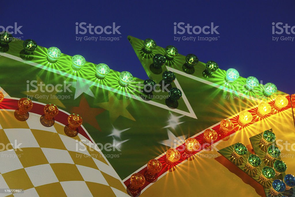 Zigzag carnival marquee stock photo