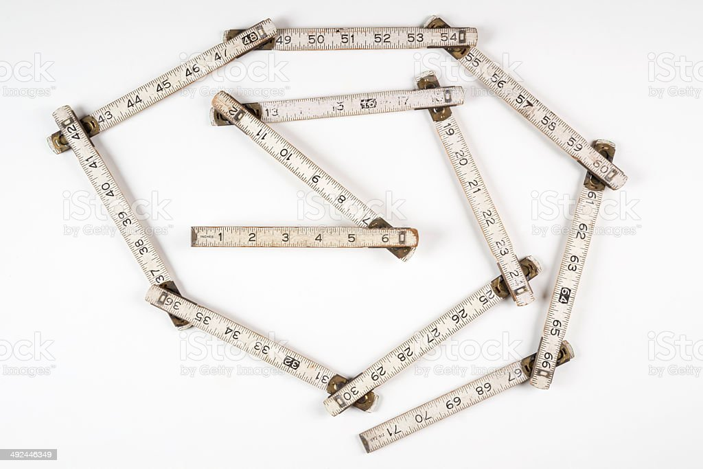 Zigzag Measure Ruler stock photo