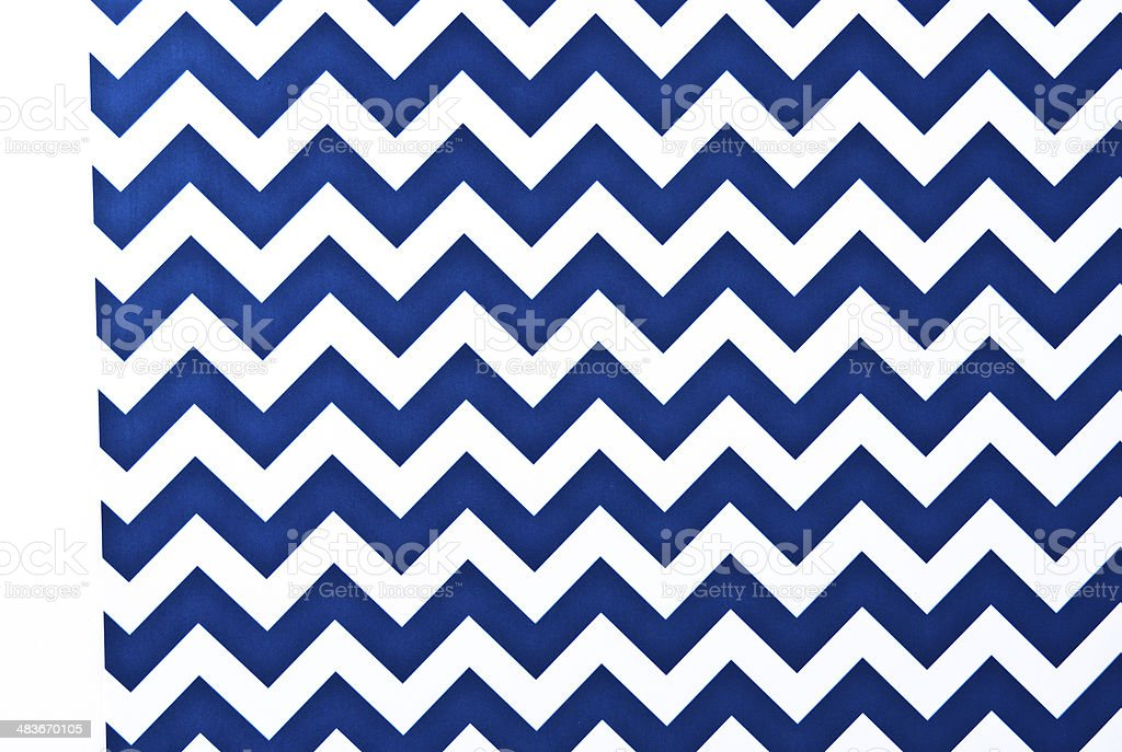 Zigzag pattern blue and white. stock photo
