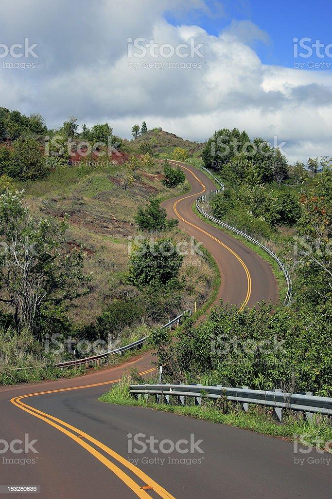 Zig-Zag Road royalty-free stock photo