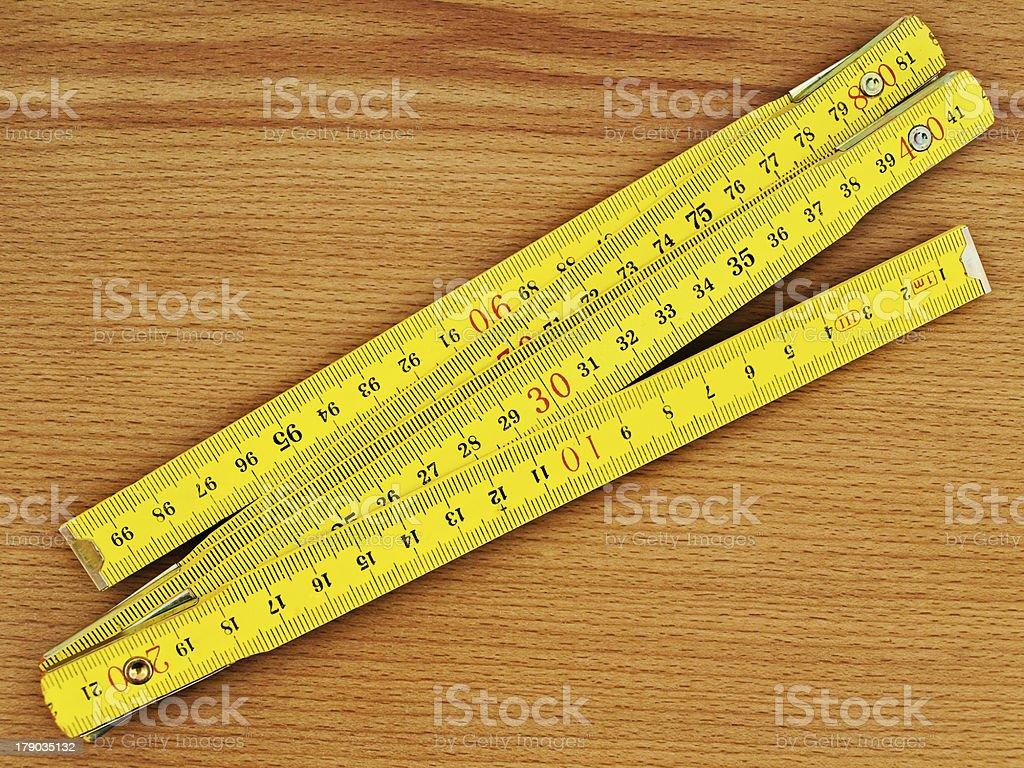 Zigzag Rule stock photo