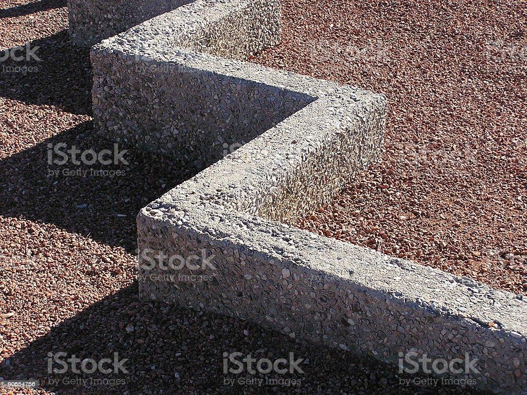 Zigzag Wall royalty-free stock photo
