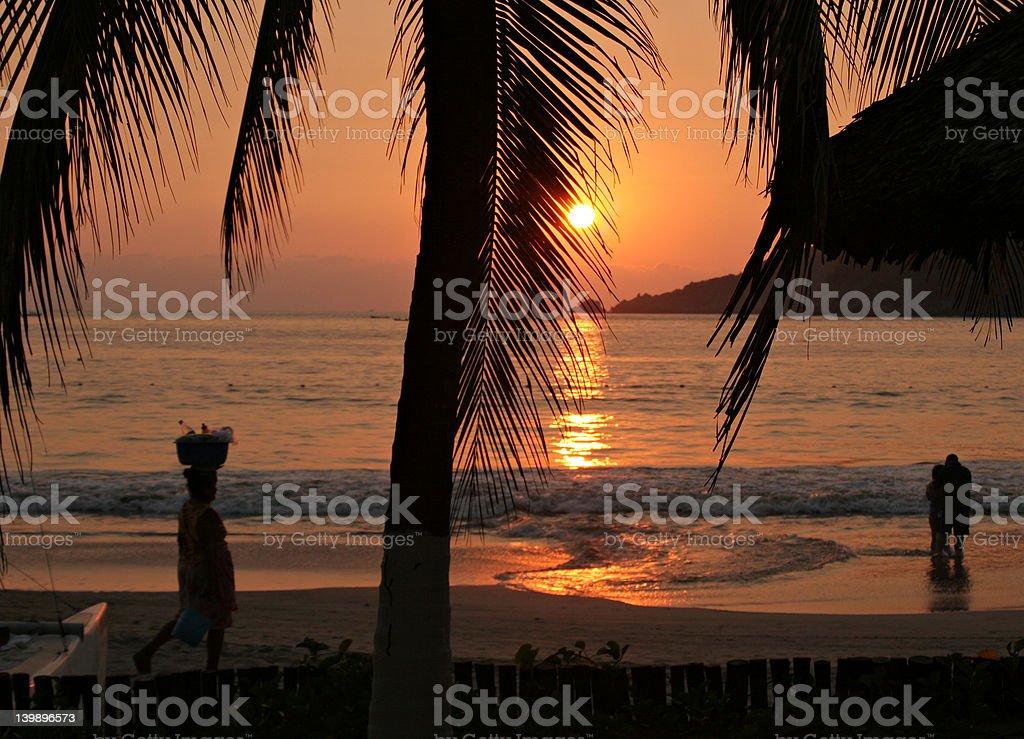 Zihuatanejo Sunset stock photo