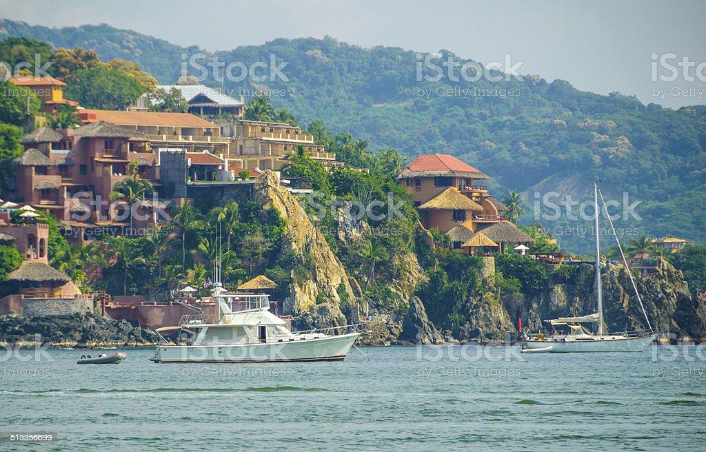Zihuatanejo Yachts stock photo