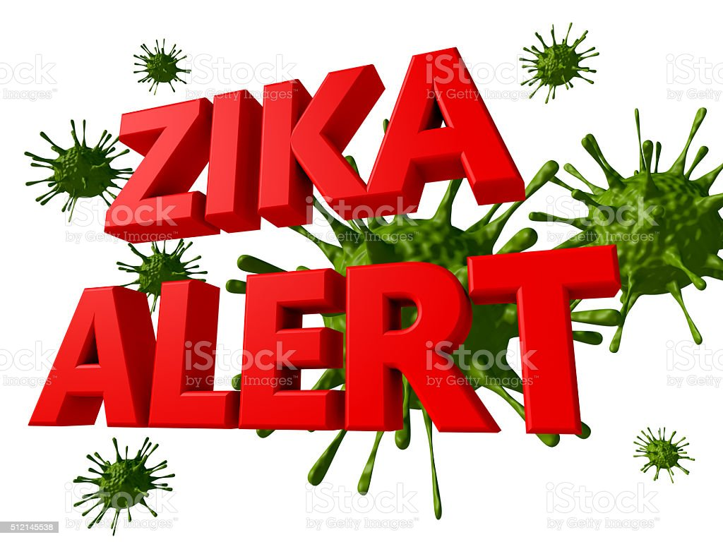 Zika virus alert stock photo