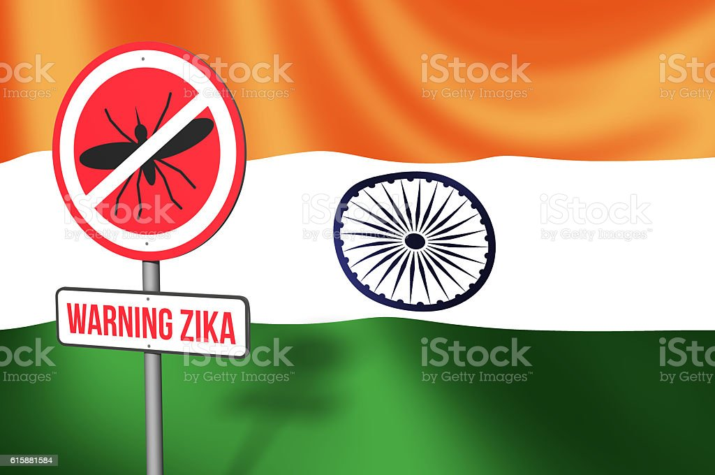 Zika Virus in India stock photo