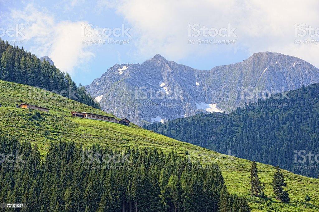 Zillertal Alps landscape (Austria) stock photo