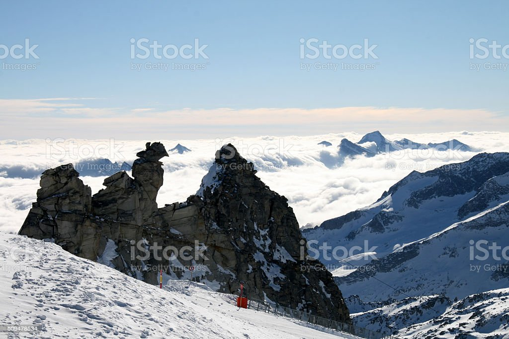 Zillertal Glacier stock photo