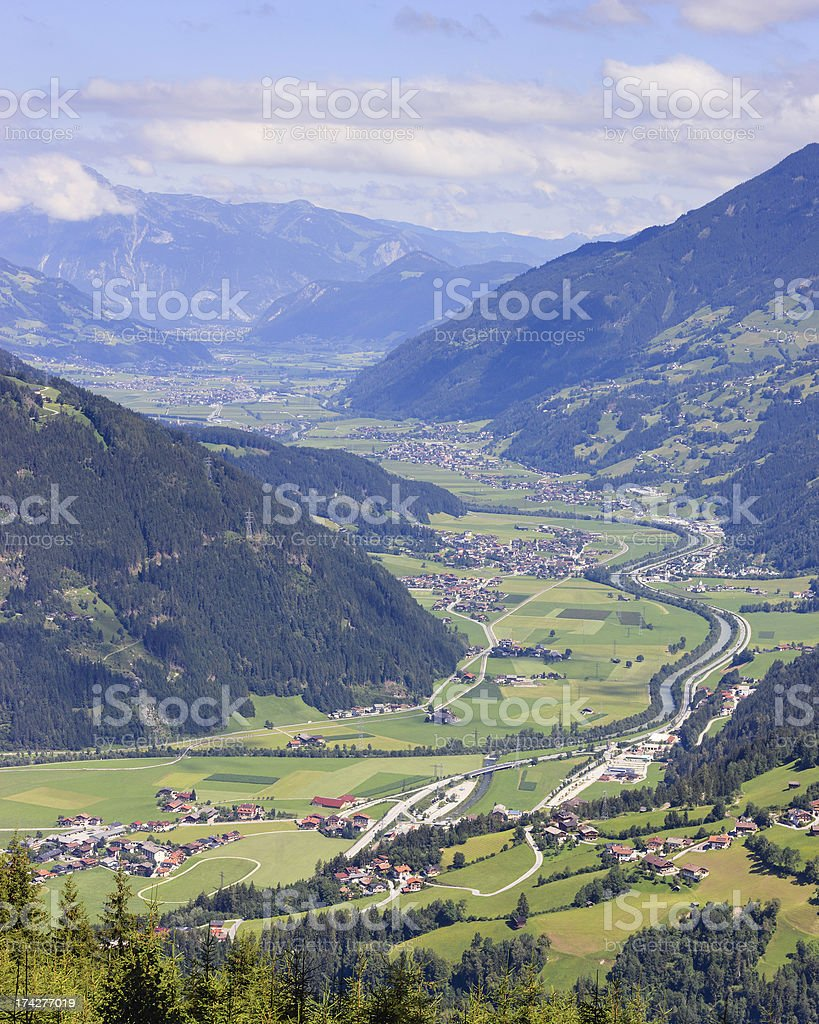 Zillertal summer vista stock photo