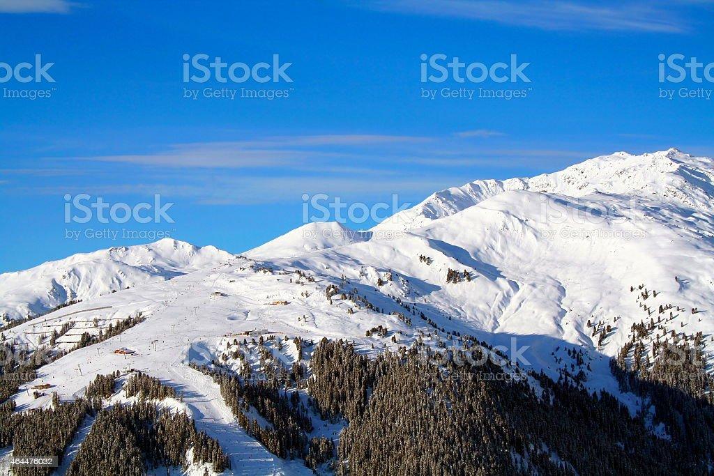 Zillertal-Gerlos-Skigebiet stock photo