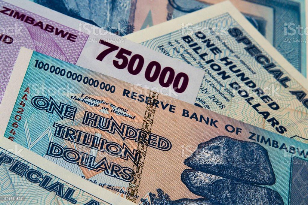 Zimbabwe Currency stock photo