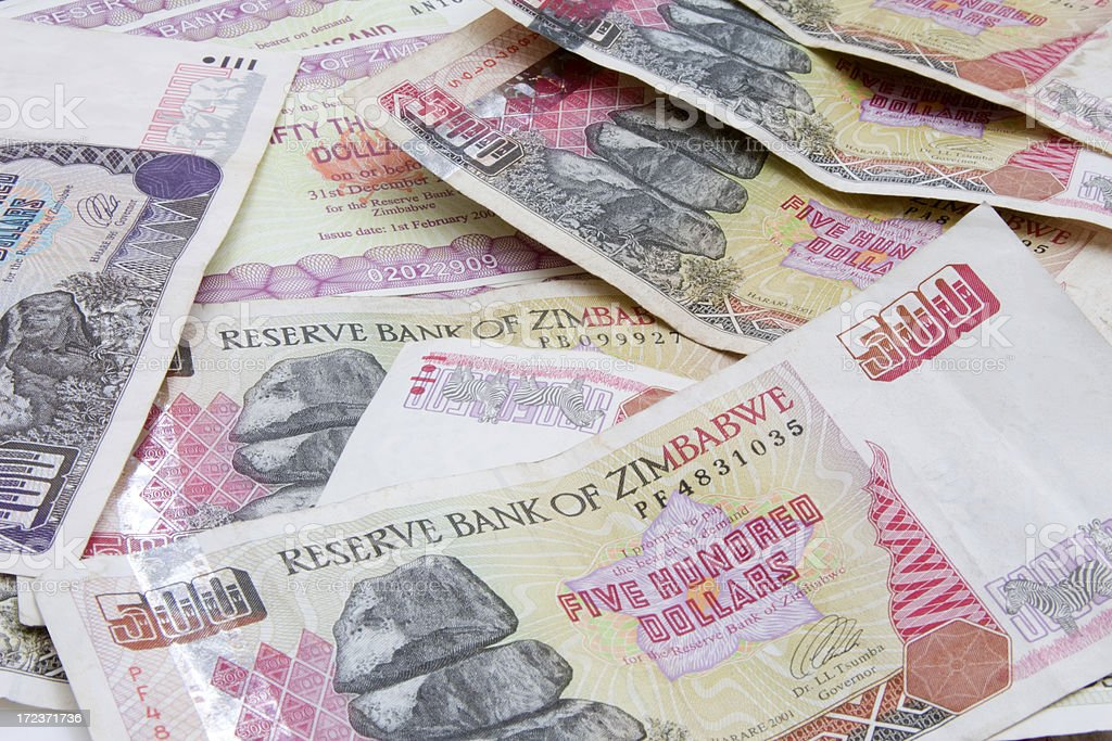 Zimbabwe Dollars royalty-free stock photo