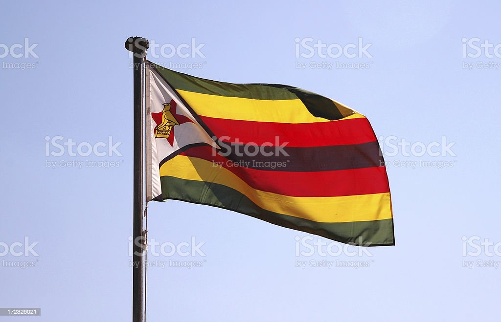Zimbabwe Flag royalty-free stock photo