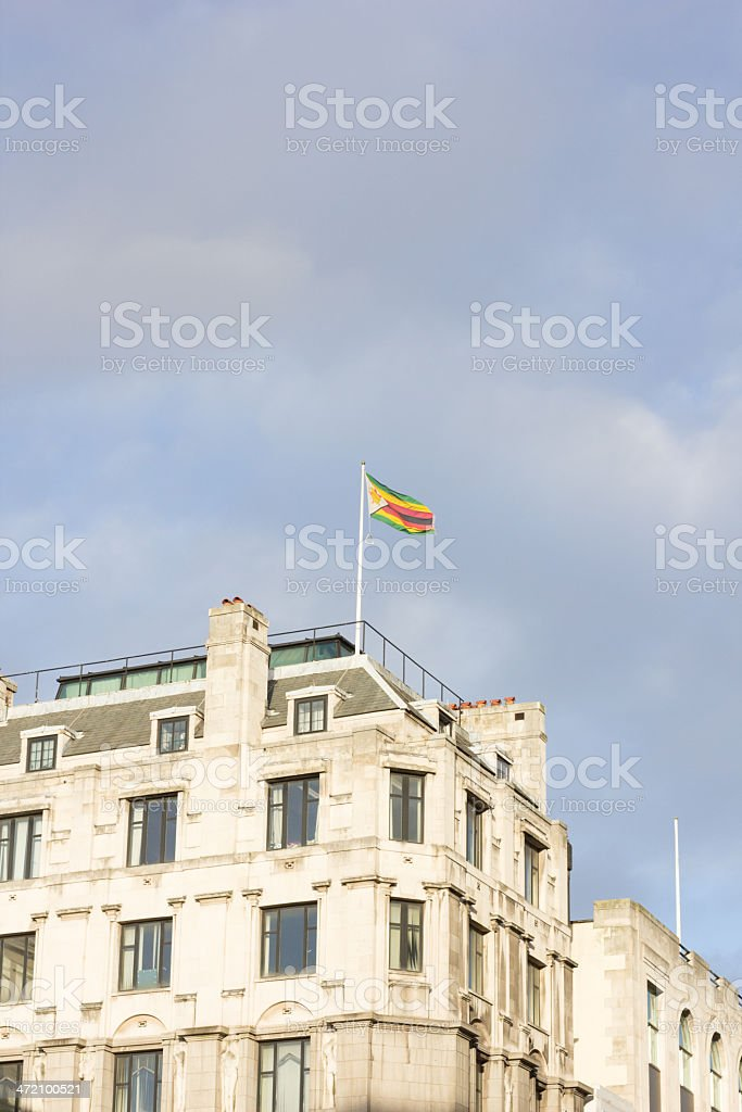 Zimbabwe House on the Strand, London royalty-free stock photo