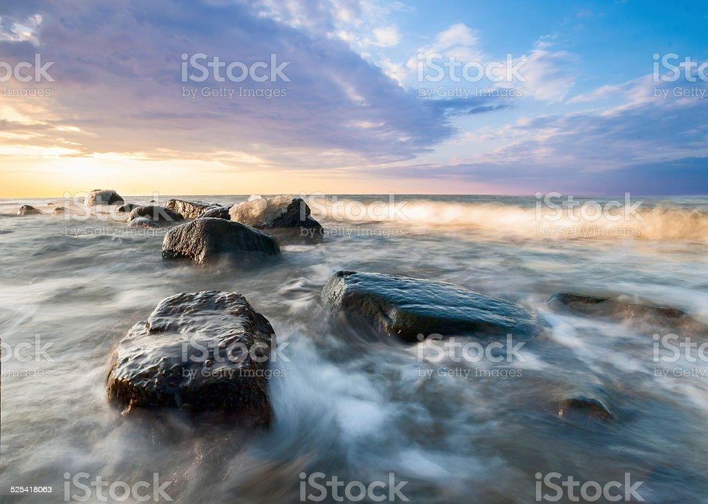 zimowe morze stock photo