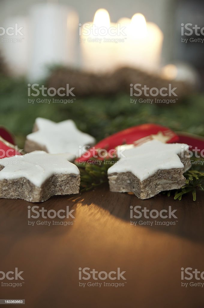 Zimtstern pastry at christmas royalty-free stock photo