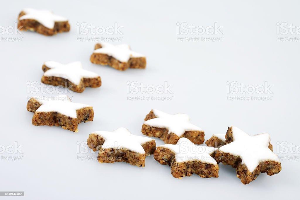 Zimtsterne / Cinnamon Star Cookies stock photo