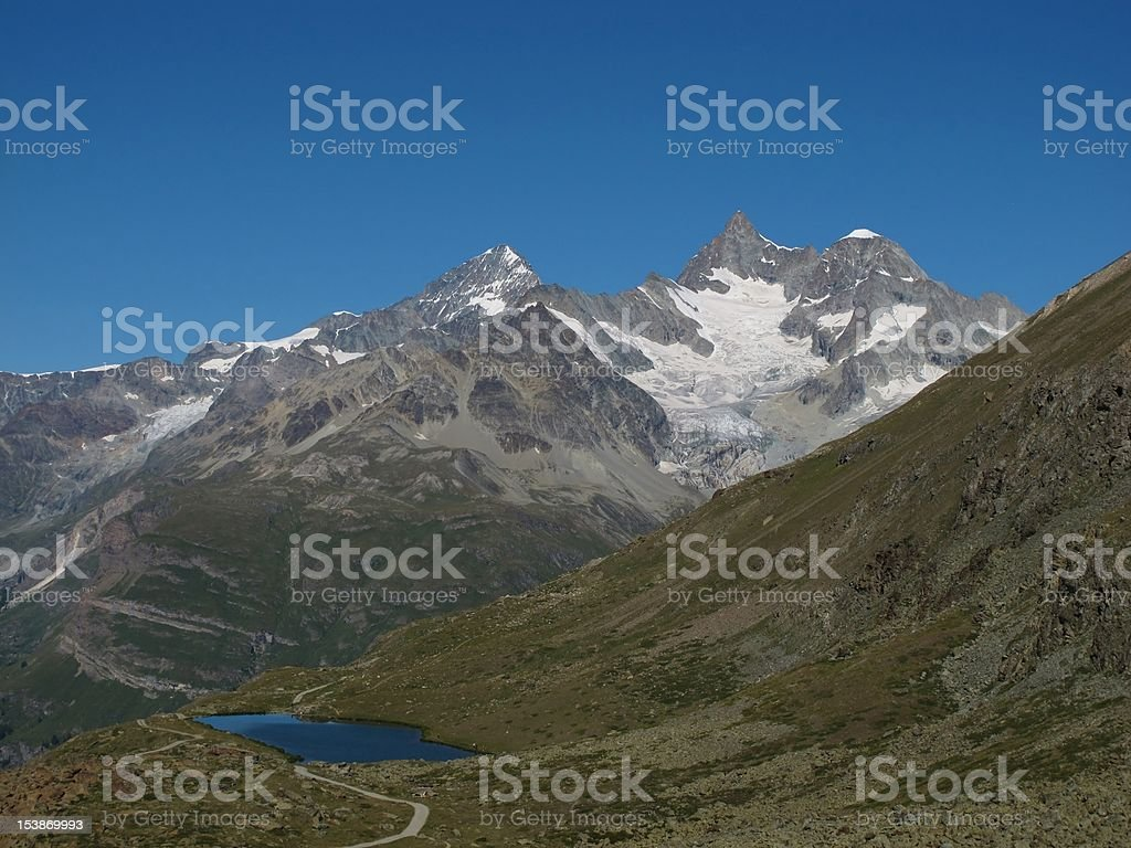 Zinalrothorn And Lake Stellisee royalty-free stock photo