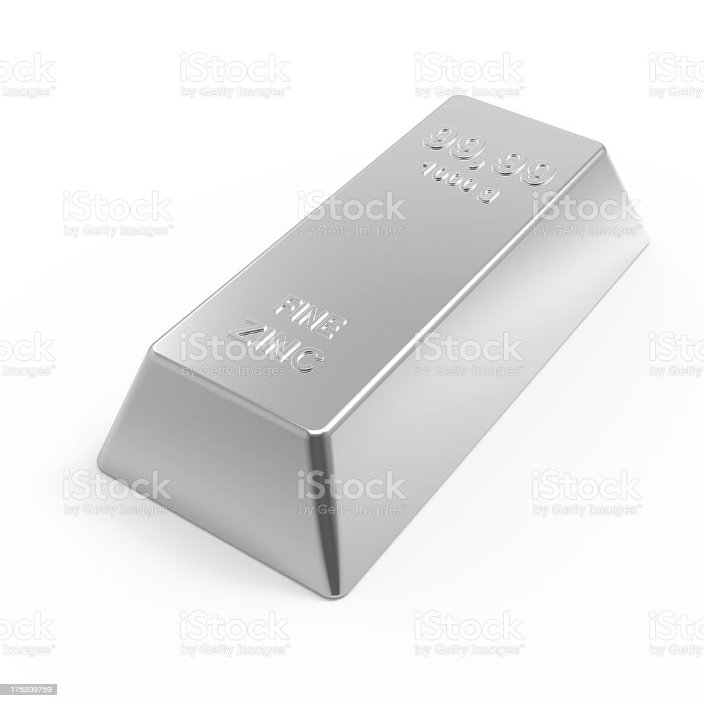 Zinc Bar stock photo