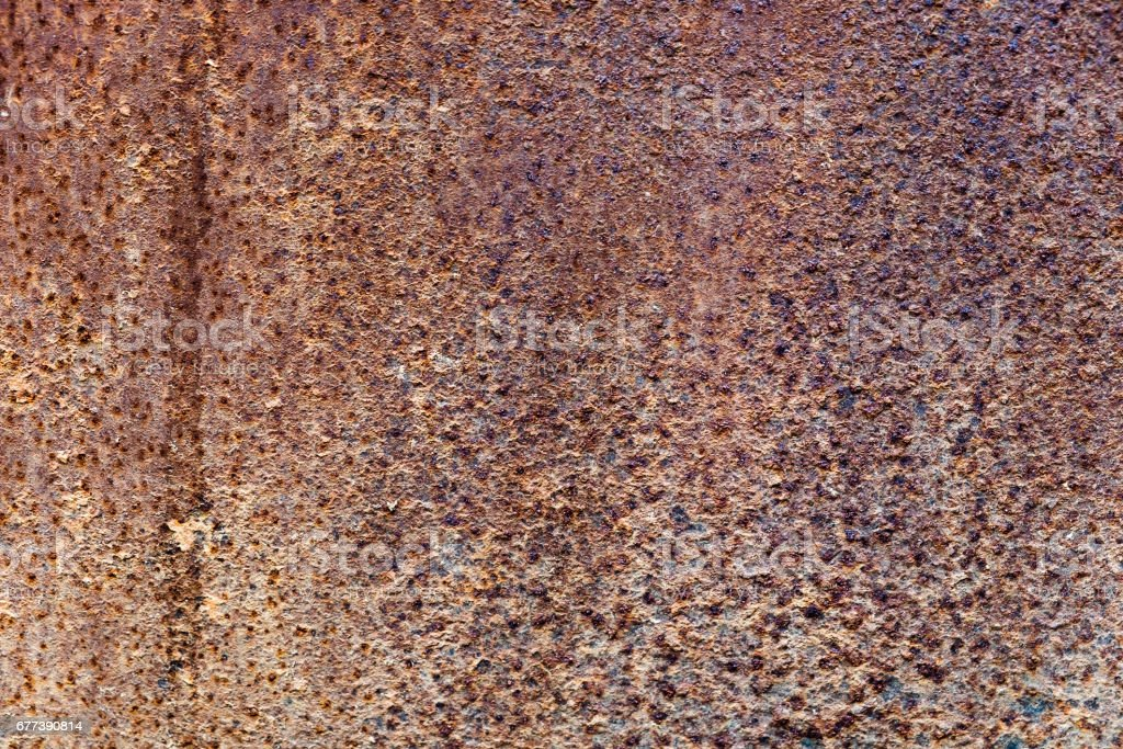 Zinc decay pattern old rust stock photo