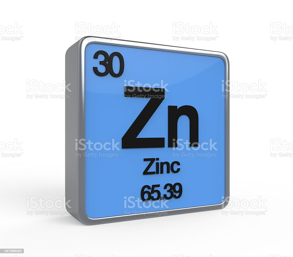 Zinc Element Periodic Table stock photo