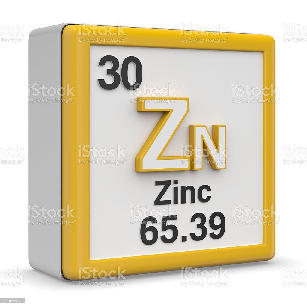 Zinc element stock photo