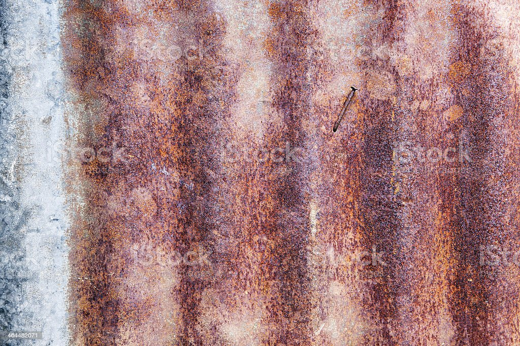 Zinc Fence Background, Abstract or Texture royalty-free stock photo