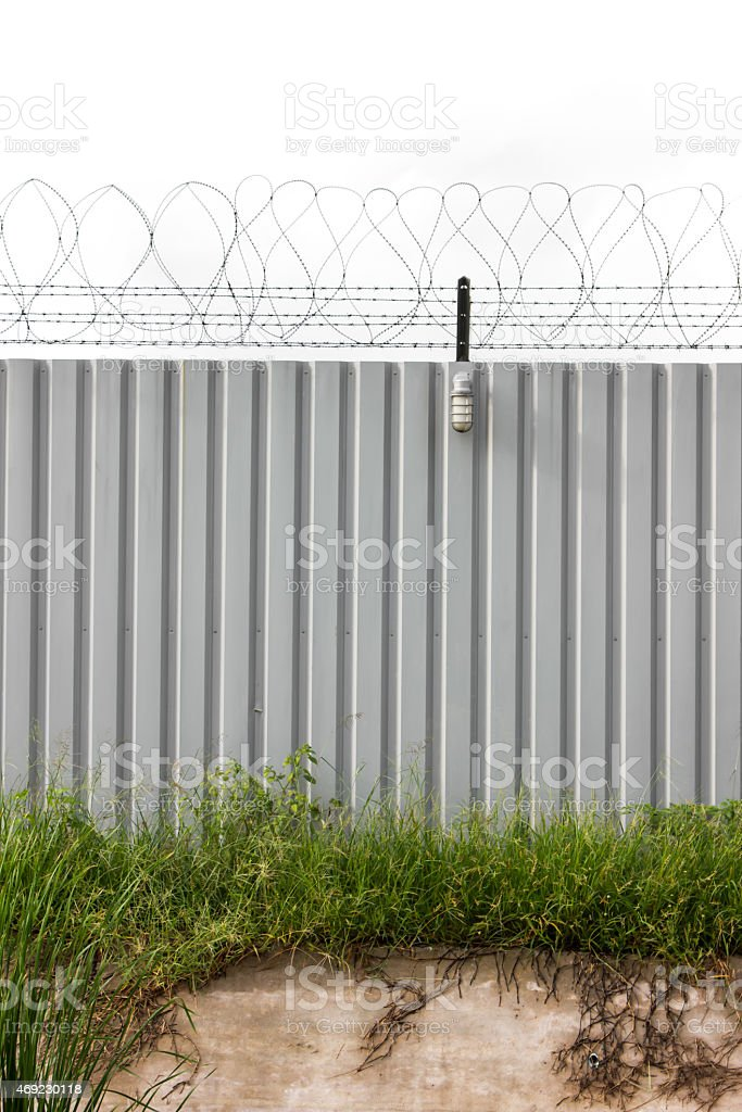 Zinc Fence Barb stock photo