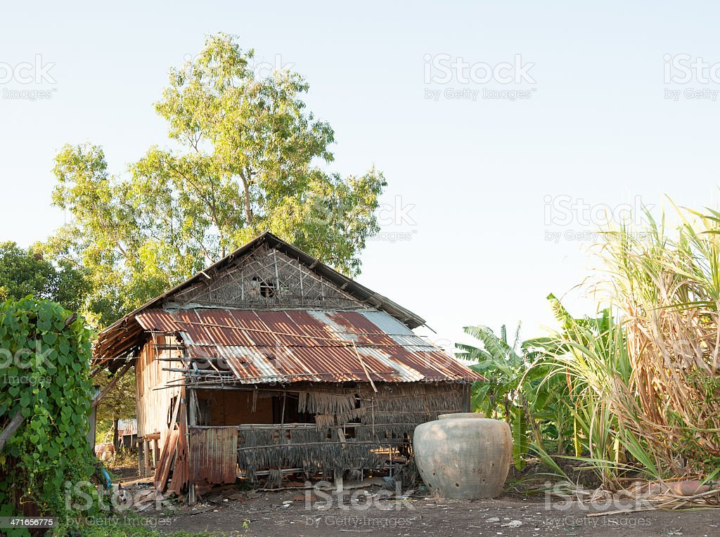 Zinc home in Thailand royalty-free stock photo