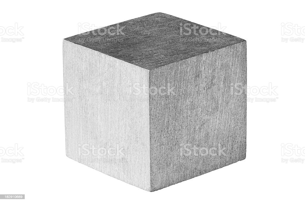 Zinc metal cube royalty-free stock photo