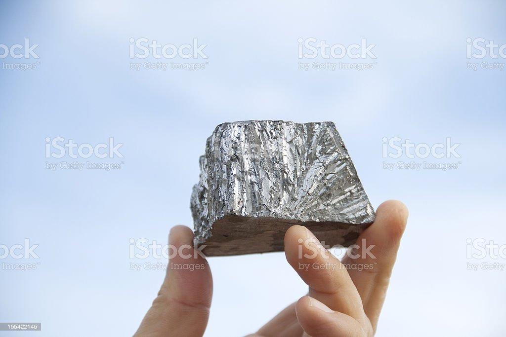 Zinc mine nugget royalty-free stock photo
