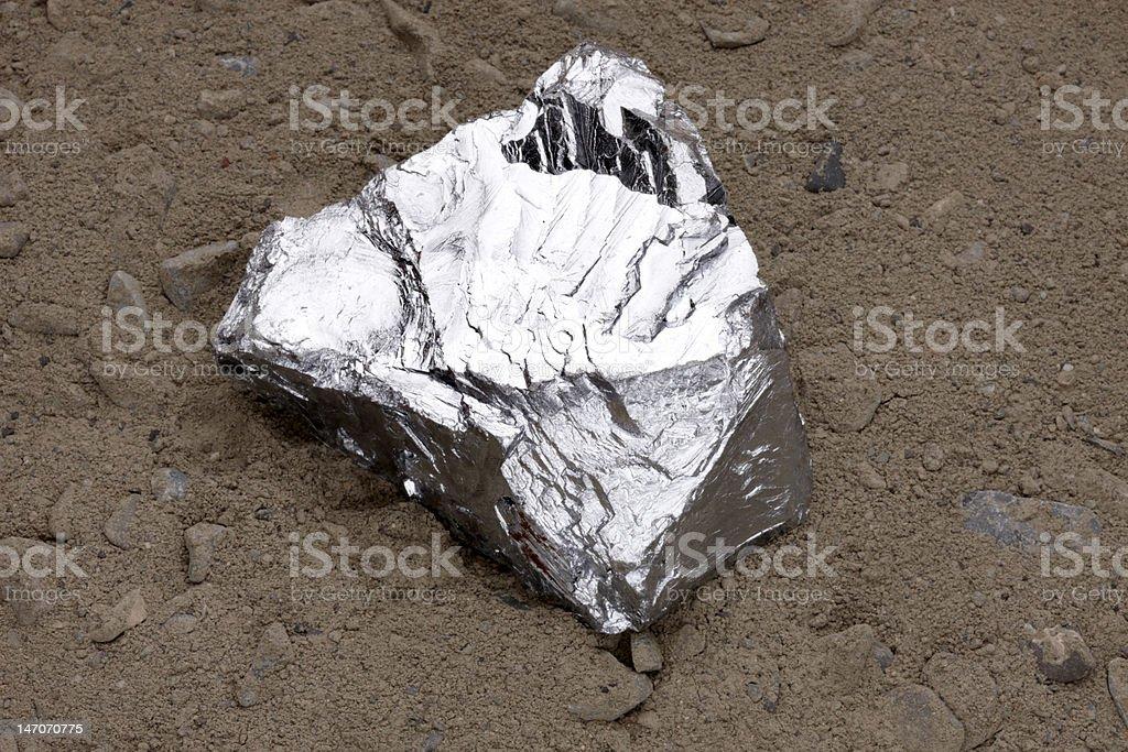 Zinc nugget stock photo