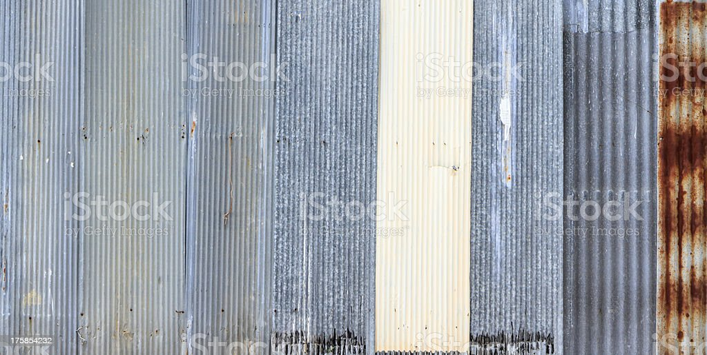 'Zinc' old rusty  metal wall royalty-free stock photo