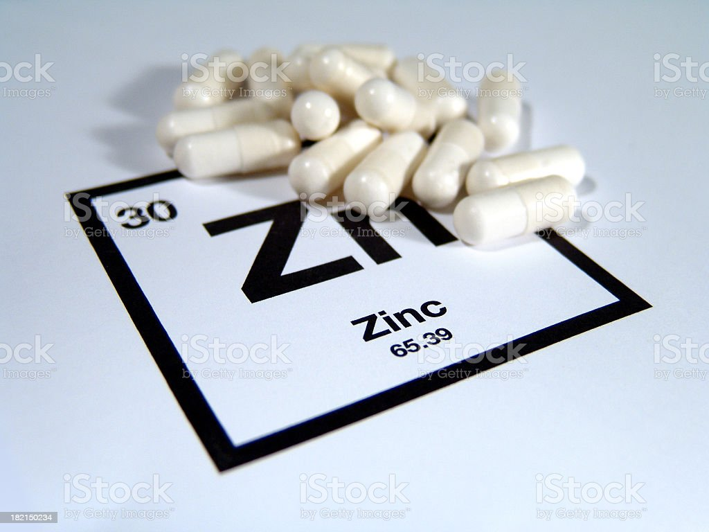 Zinc Supplements royalty-free stock photo