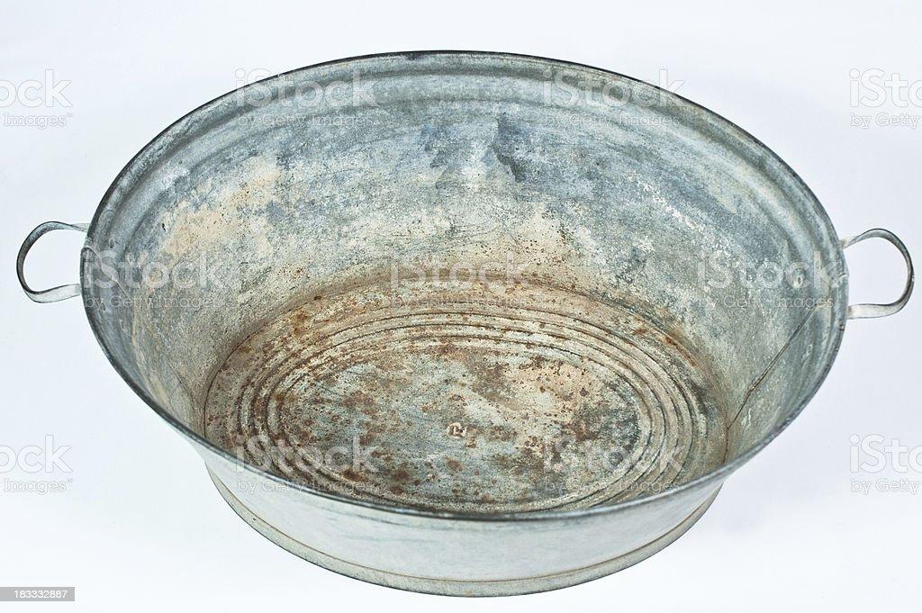 zinc tub royalty-free stock photo