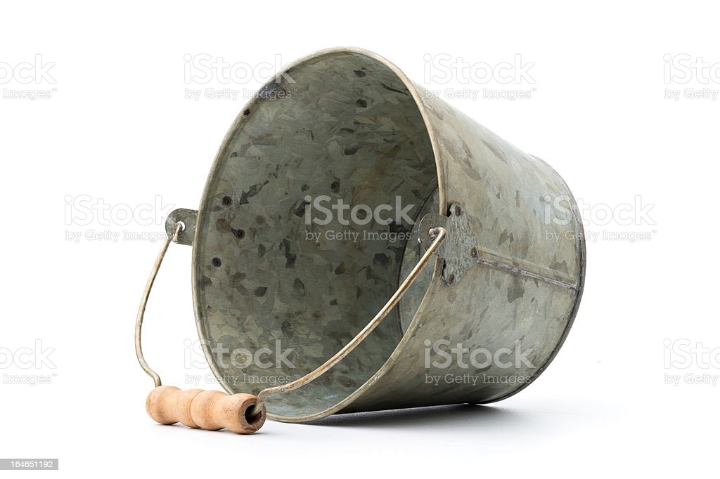 Zinc-coated bucket royalty-free stock photo