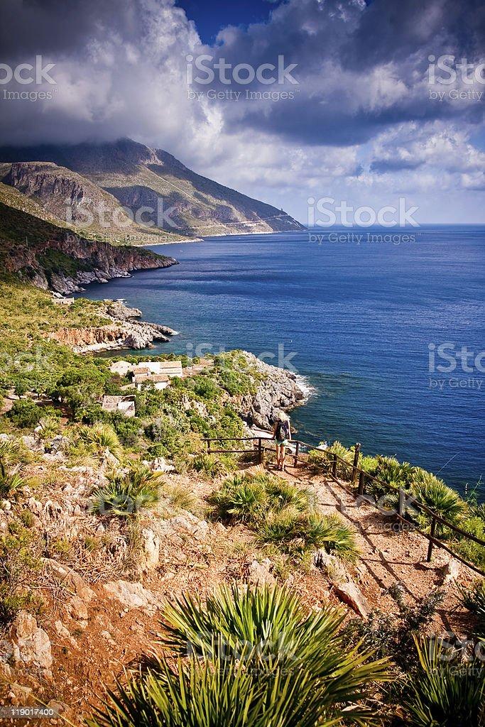 Zingaro Natural Reserve, Sicily royalty-free stock photo