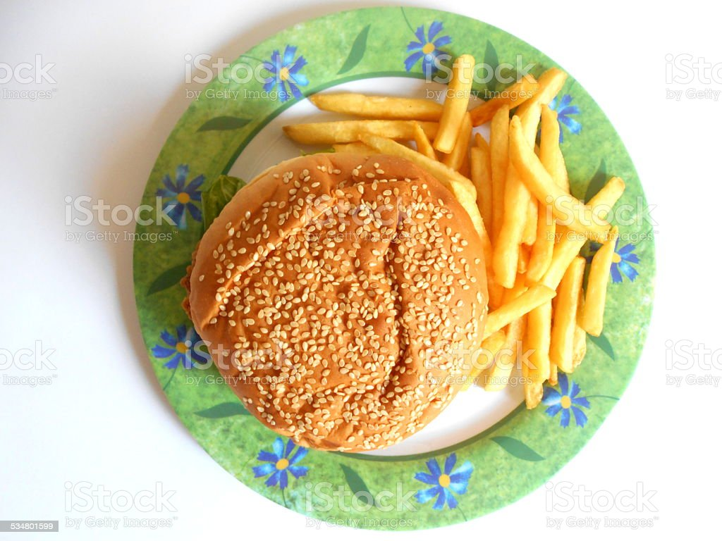 zinger sandwich stock photo