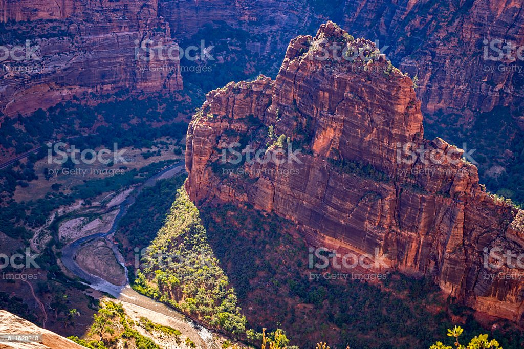 Zion Canyon from the Angels Landing Trail stock photo
