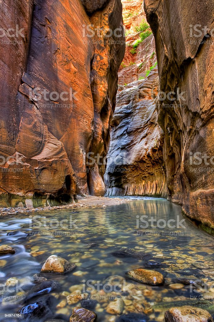 Zion Canyon Narrows stock photo