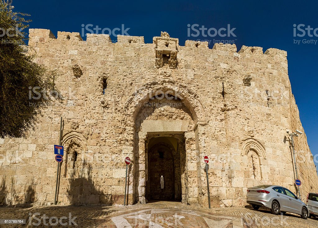 Zion Gate, Old City of Jerusalem, Israel stock photo