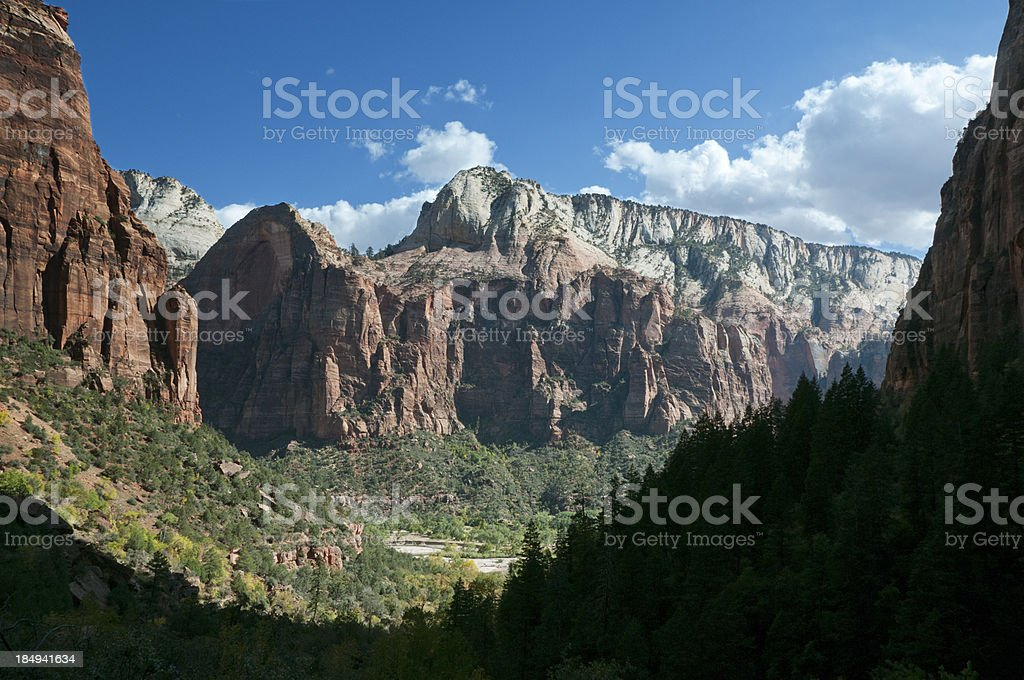 Zion Kayenta Trail View stock photo