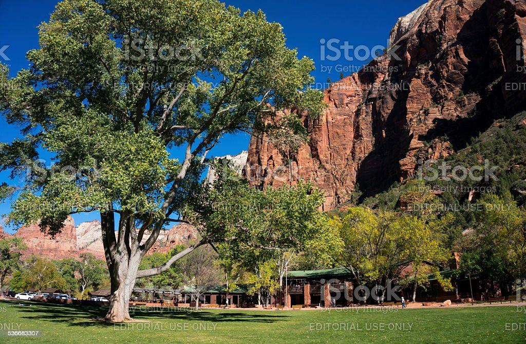 Zion Lodge stock photo
