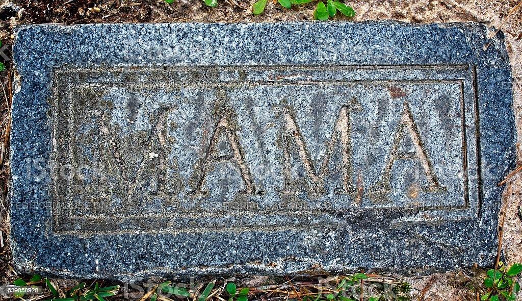 Zion Lutheran Cemetery MAMA Marker stock photo