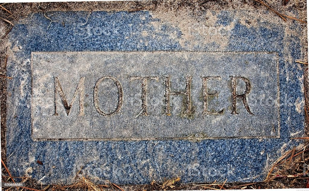 Zion Lutheran Cemetery MOTHER Marker stock photo