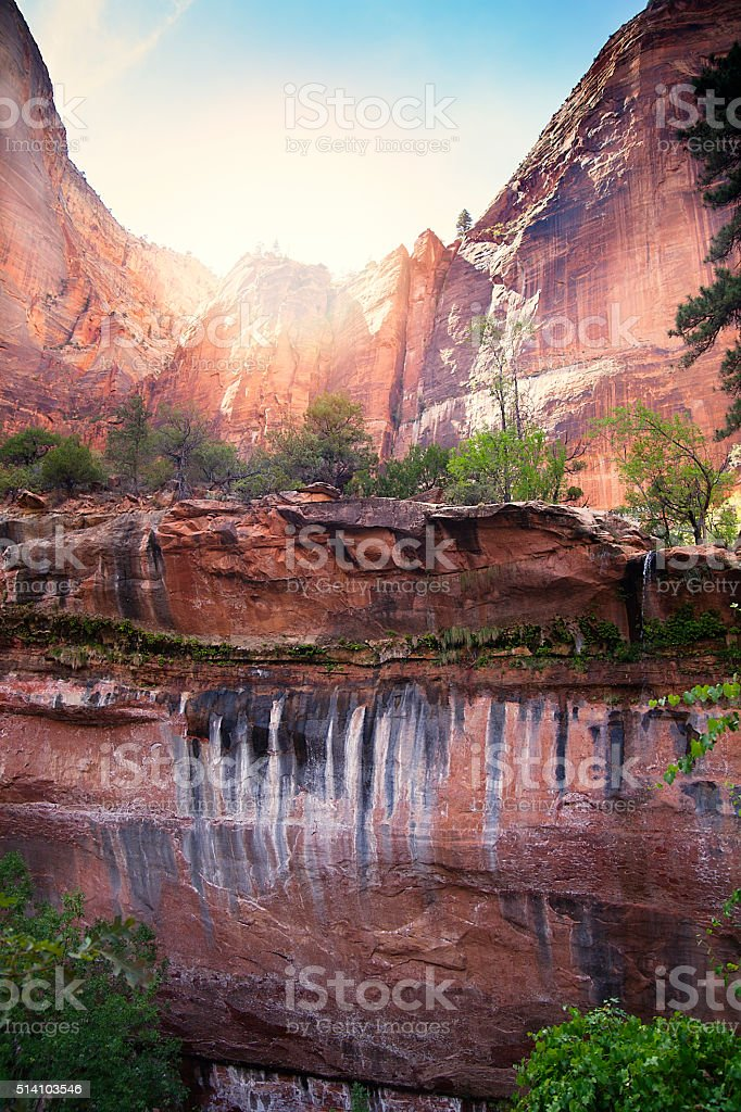 Zion National Park rocks stock photo