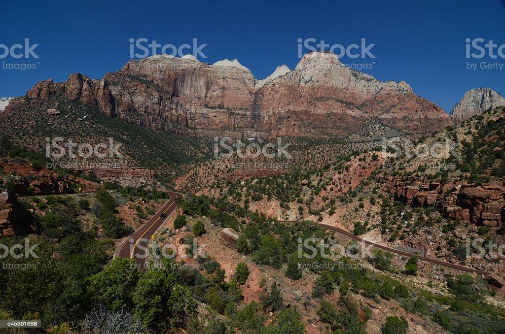 Zion National Park Switchbacks stock photo